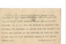 1928  WCLO Kenosha Wis.meeting  QSL radio card