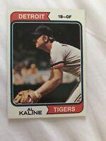 1974 Topps #215 Al Kaline Baseball Card HOF Ungraded Detroit Tigers FREE SHIP