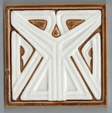 Peter Behrens Villeroy Boch Original period antique Art Nouveau Majolica tile