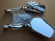 Skull Mirror Yamaha Road Royal Max Vstar 1100 1300 1600 1700 Warrior Virago Chro