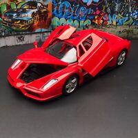 New 1/24 Bburago Ferrari Enzo Coupe 2002 car model door open &Close Red 18-26006