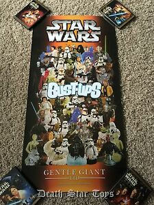 Star Wars Gentle Giant Celebration Bust Ups Promo Poster Print Fett III IV V VI