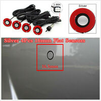 Car Parking Sensor Reverse Backup Radar System Kit +4Pcs Adjustable Flat Sensors