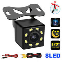 8 LED Car Rear View Reverse Parking Backup Camera HD Night Vision Waterproof