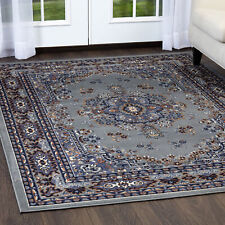 "Persien Silver Grey Area Rug 8 X 11 Oriental Carpet 69 - Actual 7' 8"" x 10' 8"""