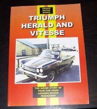 TRIUMPH Herald Vitesse 1600 PROVA SU STRADA + Vitesse revisione dei dati RISTAMPA LIBRO Memoria alta