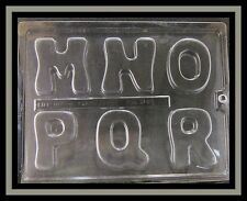 2-3/4 inch Letters  - M, N, O, P, Q, R*** Candy - Gum Paste Mold  #08886