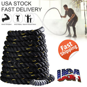 "Heavy Battle Rope Fitness Climbing Training Undulation Exercise Rope 1.5"" 30ft"