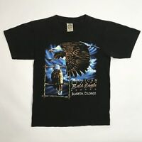 Vintage 1997 Colorado Bald Eagle T-Shirt M Single Stitch Made USA Black 90s VTG