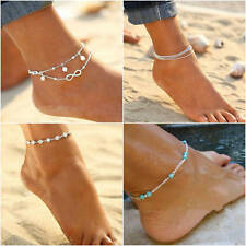 Fashion Women's Gold Silver Ankle Bracelet Anklet Chain Foot Beach Jewelry