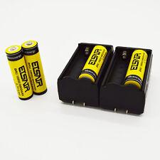 4pcs 18650 3.7V 9900mAh Rechargeable Li-ion Battery +2 Charger Set High Capacity