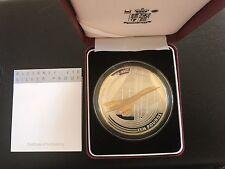 RARE 2003 Alderney Silver Proof £10 5oz Coin- Final Flight Concorde Boxed & COA