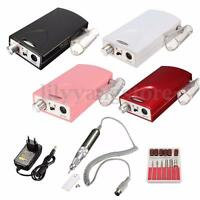 Pro Rechargeable Electric Nail File Drill Bit Manicure Pedicure Machine Tool Set