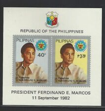 Philippines #1600a MNH S/S CV$5.00 Ferdinand Marcos Imperf