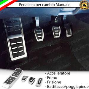 SET PEDALIERA COPRIPEDALI COPRI PEDALI PER CAMBIO MANUALE AUDI A6 C6 + AVANT