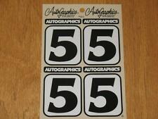 Autographics of California No Number 5 Decal Sticker Sheet RC 10 RC10 NASCAR 2.1