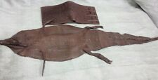 Genuine Crocodile Skin Leather Hide Pelt Brown 15 x 75 cm Full Body collectible