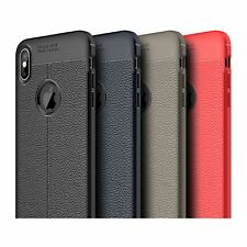 For Apple iPhone XR Luxury Shockproof Leather Pattern Soft TPU Protective Case