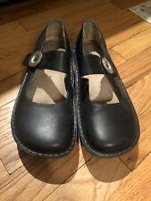 Alegria Paloma Black Napa Leather Mary Jane Shoes  PAL-601 Size 37/ 6.5-7