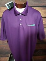 Nike Golf Mens 3XL XXXL Purple White Short Sleeve Golf Polo Shirt New