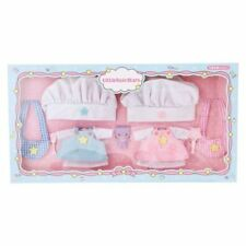 Little Twin Stars Doll clothes Set Cook kikilala Quilt Mascot Sanrio JAPAN F/S
