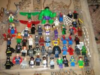 lego Superheroes  figures and spares job lot