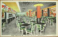Washington, DC 1940s Linen Postcard: Mayfair Restaurant, 13th & F Streets. - DOC
