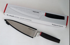 Tupperware Stainless Steel Chef Series PURE Chef's Knife & Sheath New in Box