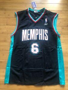 New Reebok Vintage Memphis Grizzlies Jersey BONZI WELLS Black Rare NBA Large