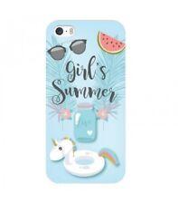 Coque iphone 4 4s Summer licorne girl beach tropical