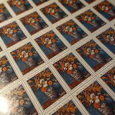 FEUILLE SHEET MONACO N°886 x30 FLORALIES FLEURS 1972 NEUF ** MNH COTE 150€