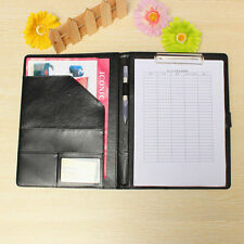 Black Business A4 Folder Leather Portfolio Clipboard PU Leather Document