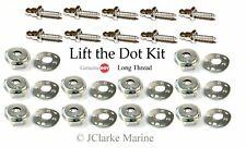 """Lift the dot kit (5/8"""" stainless screw stud, socket, plate) boat cover fastener"""