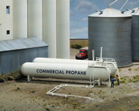Walthers Cornerstone HO Scale Building/Structure Kit Propane Tanks (2-Pack)