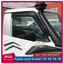 AUS Luxury Window Visor Weathershields For Toyota Landcruiser 70 76 78 79 2pcs T