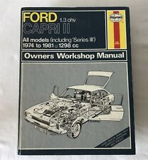Ford 1300 Capri MK2 + Series 3 1974-81 Owners Workshop Manual 338 Hardback 1982