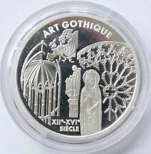 "6,55957 Francs 1999 Frankreich ""Art Gothique"", Silber / silver"