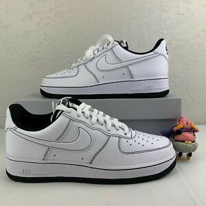 Nike Air Force 1 '07 White Black CV1724-104 Authentic Casual Contrast Stitch
