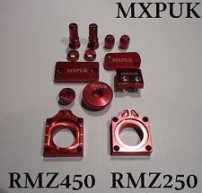 RMZ250 Kit de 2017 piezas de aleación mxpuk Anodizado Bling Rojo Pack de 2016 RMZ250 H. (638)