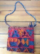 Vtg 100% Wool Handmade Hippy Ethnic South American Shoulder Bag Handbag Purse