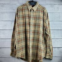 Vintage Men's Tommy Hilfiger Plaid Button Down Long Sleeve Shirt Size XL EUC