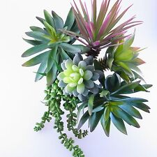 (Lot of 6) Assorted Artificial Plastic Plant Picks Home & Garden Floral Decor