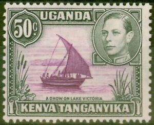 KUT 1949 Reddish Purple & Black SG144d Fine Mtd Mint