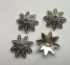 20pcs beautiful Tibet silver Flower End Beads Caps 3x14mm
