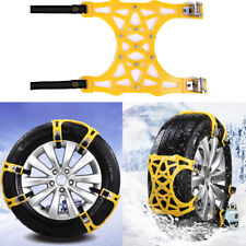 6pcs/Set Car Snow Tire Chains Beef Tendon Vehicles Wheel Antiskid TPU Chain New