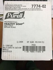 Purel Professional Healthy Soap Mild Foam Gojo Part# 7774-02, 2-1200ml