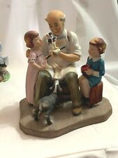 Norman Rockwell Toymaker Figurine Porcelain 1980 Collector's Club