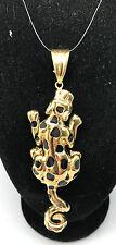 Gepard Leopard Anhänger Gold 585/14 Karat - 6,3 Gramm 73 x 26 mm