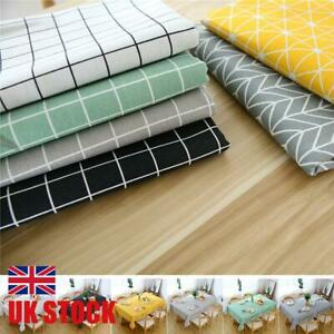 Table Cloth Cotton Rectangular Waterproof Tablecloth Kitchen Dining Tablecloths