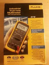 Fluke 87V Industrial True RMS Multimeter + Temp Temperature Probe Leads 87 V NEW